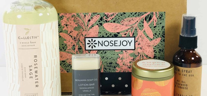 NOSEJOY October 2018 Subscription Box Review + Coupon!