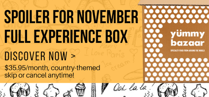 Yummy Bazaar November 2018 Full Experience Box Spoilers