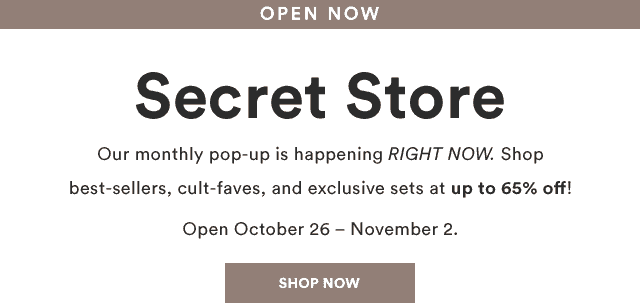 Julep November 2018 Secret Store Open!