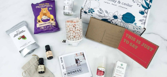 Bombay & Cedar October 2018 Subscription Box Review + Coupon