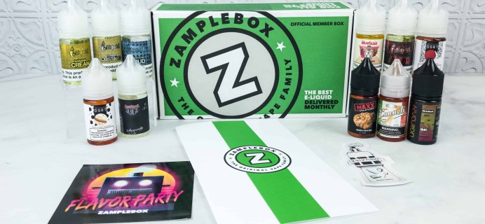 Zamplebox E-Juice October 2018 Subscription Box Review + Coupon!
