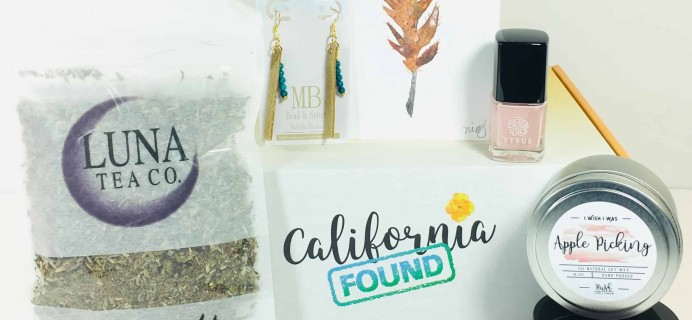 California Found October 2018 Subscription Box Review + Coupon