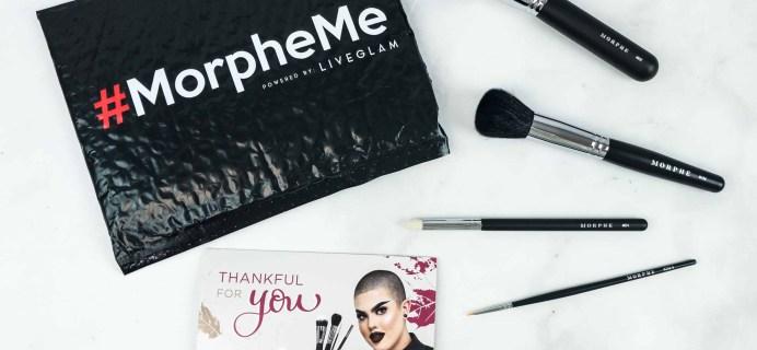 MorpheMe Brush Club November 2018 Subscription Box Review + Free Brush Coupon!
