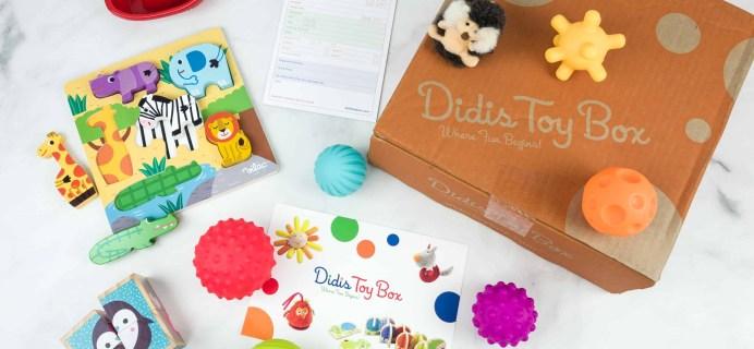 Didis Toy Box November 2018 Subscription Box Review & Coupon