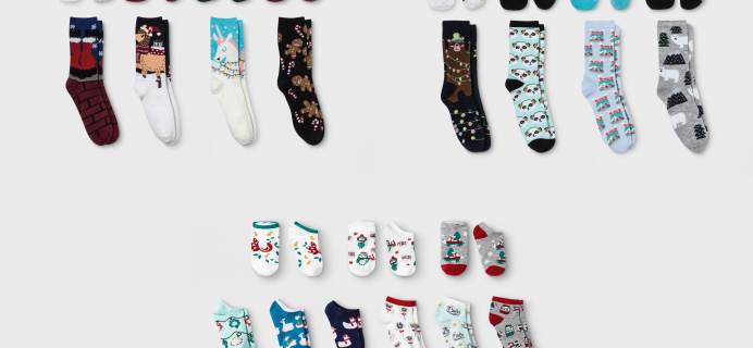 2018 Target Christmas Socks Advent Calendars Available Now!