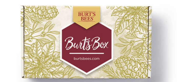 Burt's Bees Holiday 2018 Limited Edition Box Available Now!