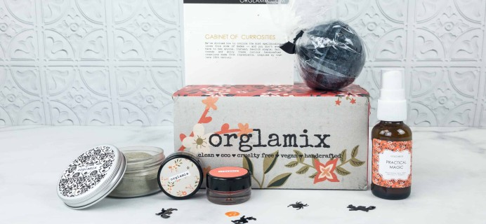 Orglamix October 2018 Subscription Box Review & Coupon