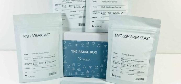 Teabox November 2018 Subscription Review & Coupon