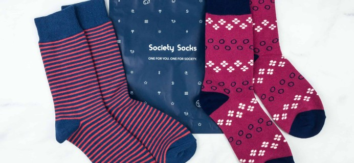 Society Socks November 2018 Subscription Box Review + 50% Off Coupon