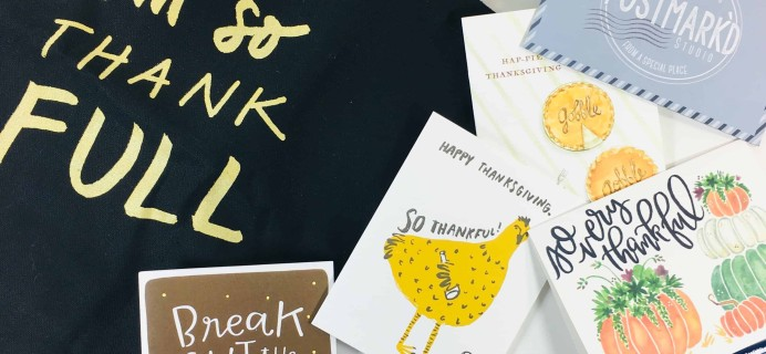 PostBox Subscription Box Review + Coupon – November 2018