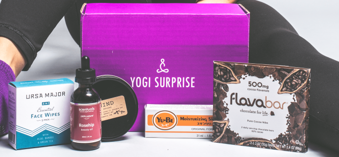 Yogi Surprise Black Friday Coupon: 50% Off First Box with all Yogi Surprise Subscriptions!