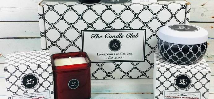 Lovespoon Candles November 2018 Subscription Box Review + Coupon