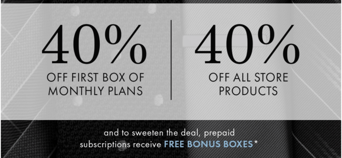 SprezzaBox Black Friday Deal: 40% Off First Month + FREE Bonus Boxes!!