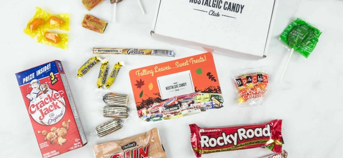 Nostalgic Candy Club November 2018 Subscription Box Review + Coupon