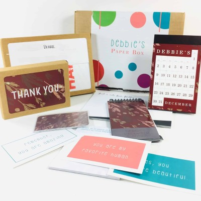 My Paper Box December 2018 Subscription Box Review + Coupon