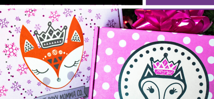 The Boxy Momma Black Friday 2018 Deals: $299 For Annual and $149 for 6-month Subscriptions + Free Mini Mystery Momma Box!