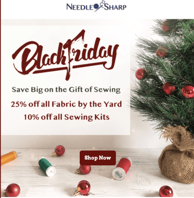 Needle Sharp Black Friday Deal: Save 10% off your first box!