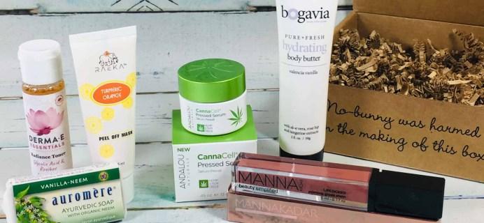 Vegan Cuts Beauty Box November 2018 Subscription Box Review