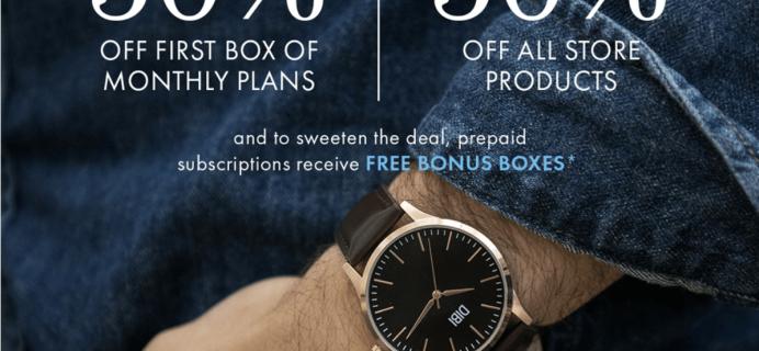 SprezzaBox Cyber Monday Coupon: 50% Off First Month + FREE Bonus Boxes!!