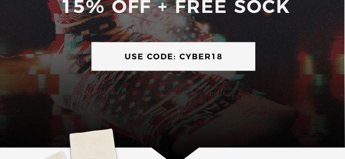 Sock Fancy Cyber Monday Deal: 15% Off Subscriptions + FREE Holiday Socks!