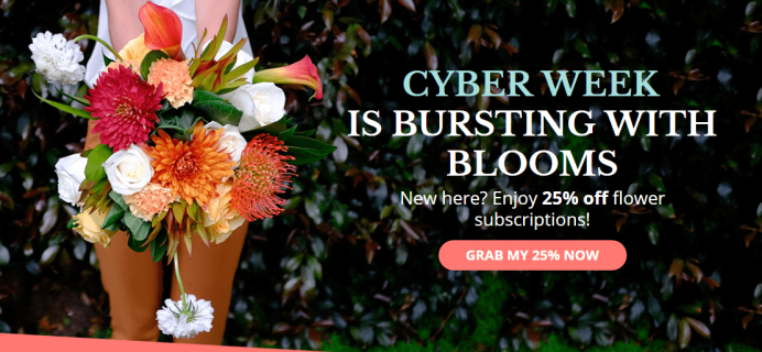 Enjoy Flowers Cyber Week Coupon: Get 25% Off On 6+ Month Subscriptions!