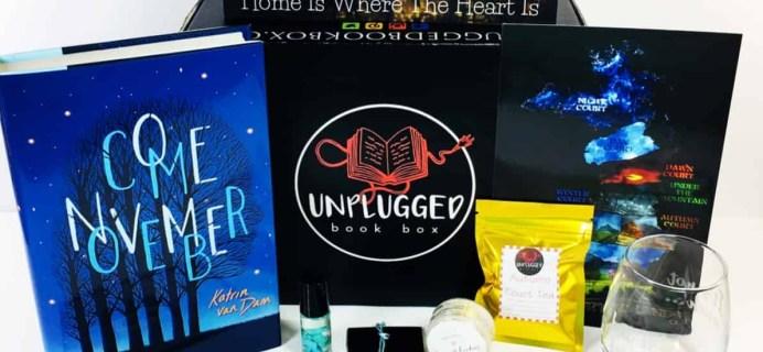 Unplugged Book Box November 2018 Subscription Box Review