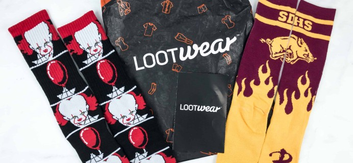 Loot Socks by Loot Crate October 2018 Subscription Box Review & Coupon