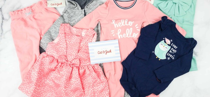 Target's Cat & Jack Baby Outfit Box Girls Subscription Box Review – Winter 2018