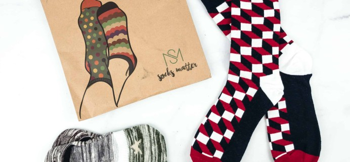 Socks Matter December 2018 Subscription Box Review + Coupon