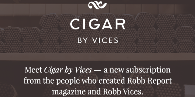 New Subscription Boxes: Cigar by Robb Vices Available Now!