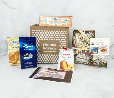 Yummy Bazaar November 2018 Full Experience Subscription Box Review – ITALY