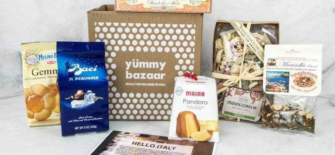 Yummy Bazaar November 2018 Full Experience Subscription Box Review – ITALY