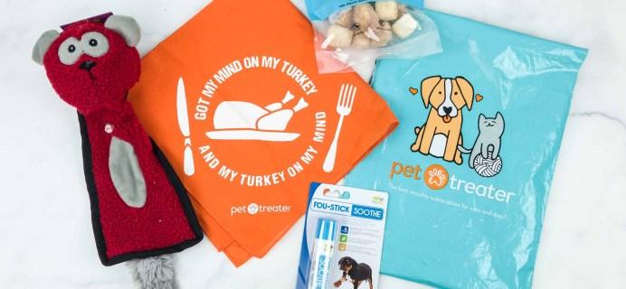 Pet Treater Dog Pack November 2018 Subscription Box Review + Coupon!