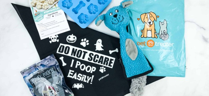 Pet Treater Dog Pack October 2018 Subscription Box Review + Coupon!