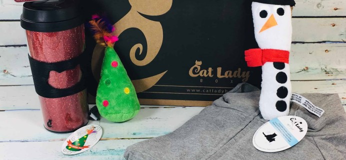 Cat Lady Box December 2018 Subscription Box Review + Coupon