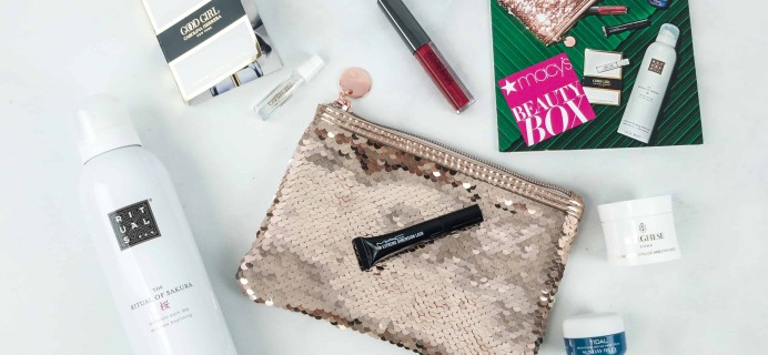 Macy's Beauty Box December 2018 Subscription Box Review