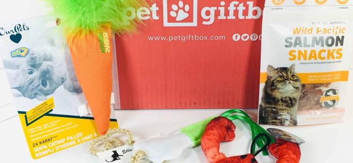 PetGiftBox Cat November 2018 Subscription Box Review + 50% Off Coupon
