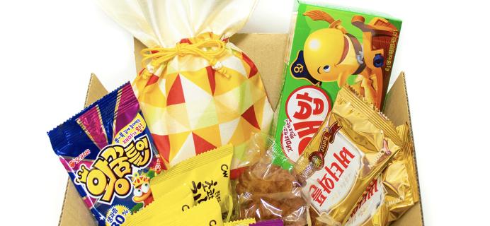 Korean Snack Box January 2019 FULL Spoilers + Coupon!