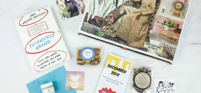 Feminist Book Club December 2018 Subscription Box Review + Coupon
