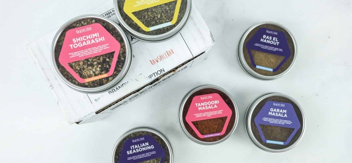 Raw Spice Bar December 2018 Subscription Box Review + Coupon
