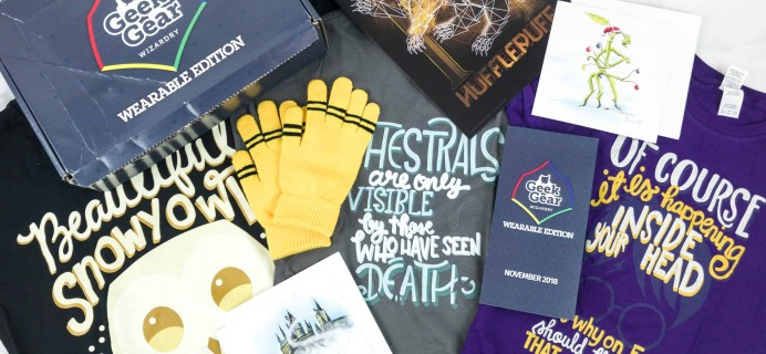 Geek Gear World of Wizardry Wearables November 2018 Subscription Box Review + Coupon