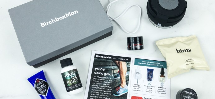 Birchbox Man January 2019 Subscription Box Review & Coupon