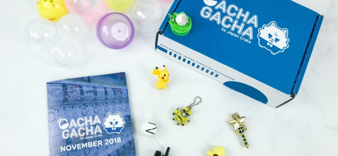 Gacha Gacha Crate November 2018 Subscription Box Review + Coupon