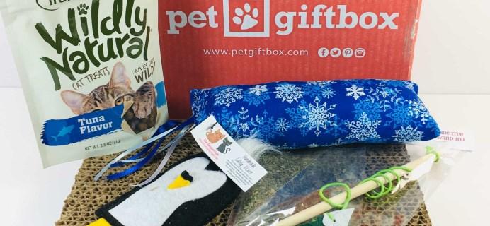 PetGiftBox Cat December 2018 Subscription Box Review + 50% Off Coupon