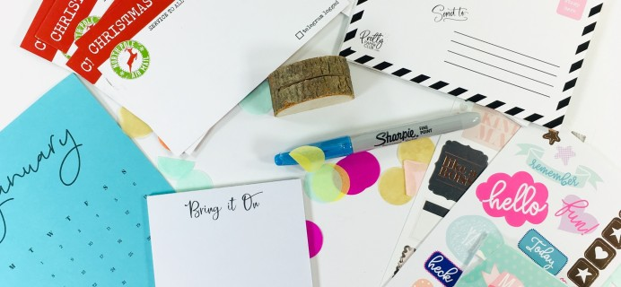 Pretty Paper Club December 2018 Subscription Box Review + Coupon