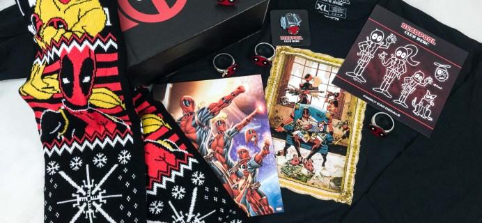 Deadpool Club Merc Winter 2018 Subscription Box Review + Coupon
