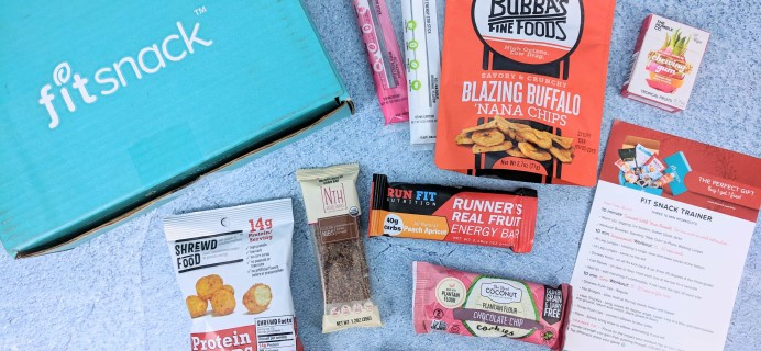 FitSnack December 2018 Subscription Box Review & Coupon