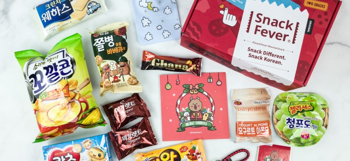 December 2018 Snack Fever Subscription Box Review + Coupon – Original Box