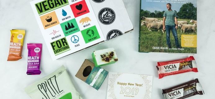 All Around Vegan Box January 2019 Subscription Box Review + Coupon