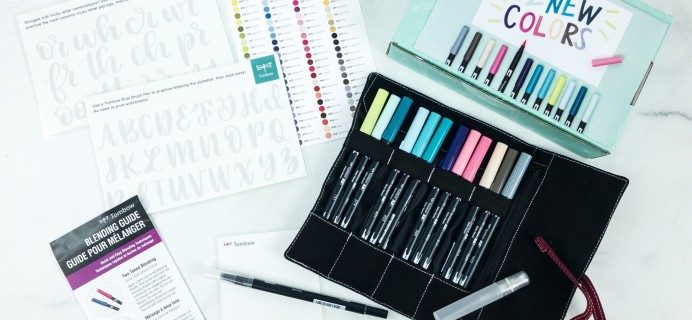 Tombow VIP Club Winter 2018 Box Review
